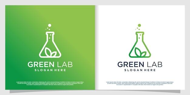Логотип лаборатории с креативным стилем элемента premium vector часть 5