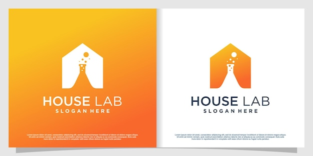 Labs logo with creative element style premium vector part 6
