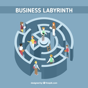 Labyrinth business concept with modern style