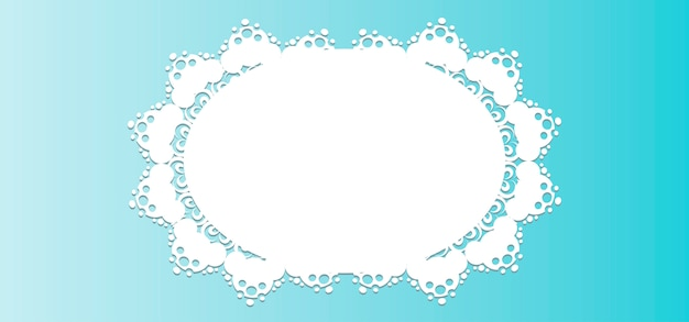 Lace background frame