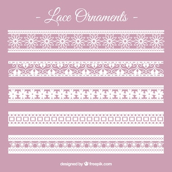 Lace border ornament collection