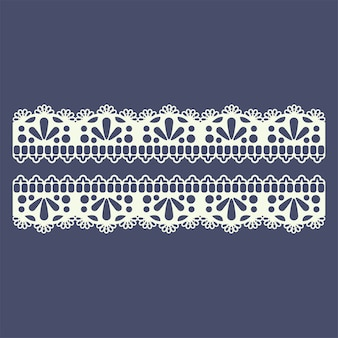 Lace border pattern for boutique fashion
