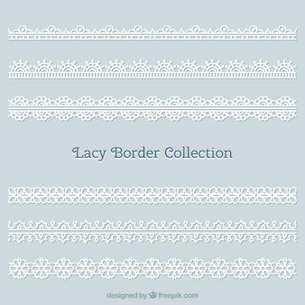 Il merletto borda i confini per la decorazione