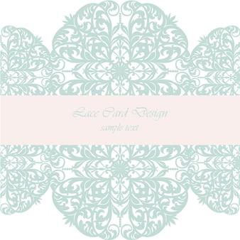 Lace card design