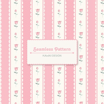 Lace and flowers seamless pattern