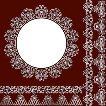 Lace for napkins. You can use the design of invitations, and other celebrations.