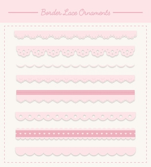 Lace ornament collection premium vector