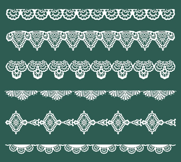 Lace ribbons - for design and scrapbook