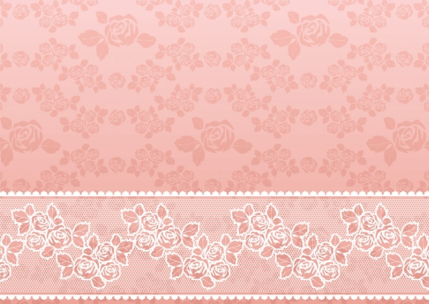 Lace rose patern with border
