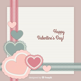 Lace valentine background