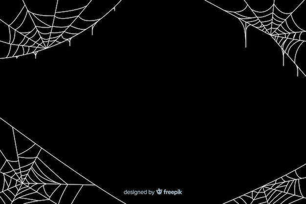 Lack halloween cobweb background