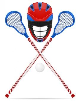 Lacrosse equipment.