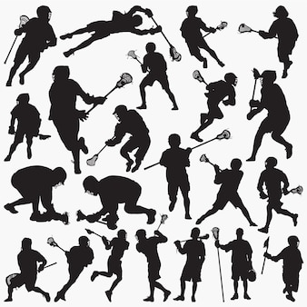 Lacrosse silhouettes