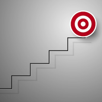 Ladder to goal for business concept