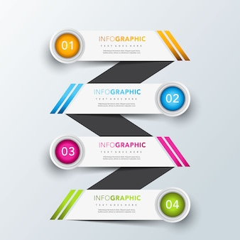 Ladder infographic banner template design