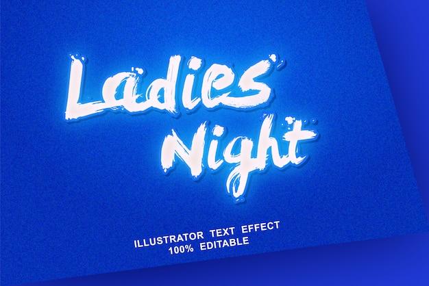 Редактируемый текстовый эффект ladies night