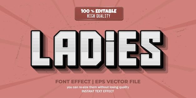 Дамы текстовый эффект редактируемый текстовый стиль