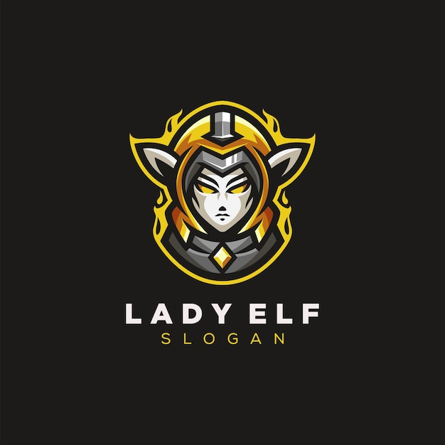Lady elf gaming logo