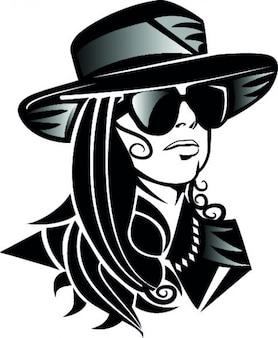 Lady gaga head with hat