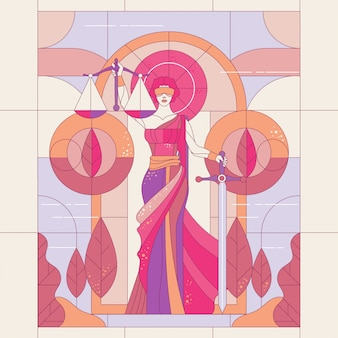 Lady of justice femida or themis