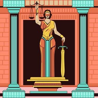 Lady of justice femida or themis