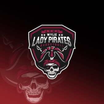 Логотип lady pirates basketball e sport
