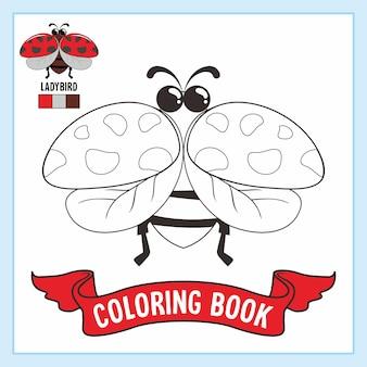 Книжка-раскраска с животными божья коровка