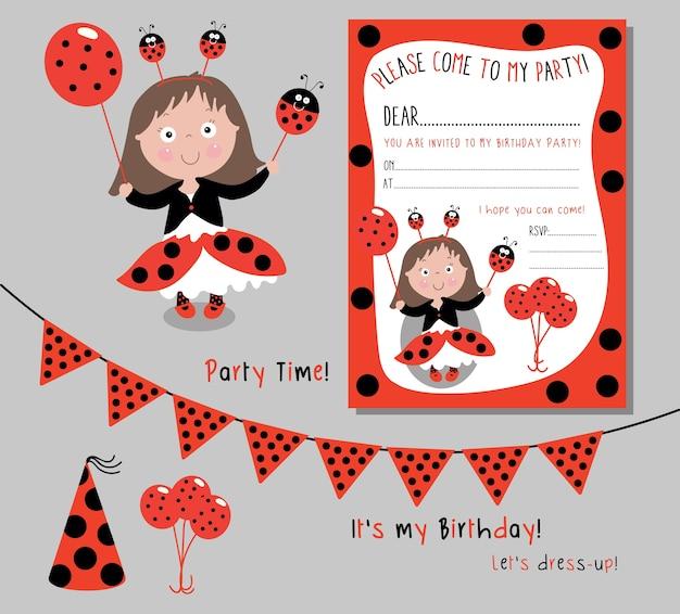Ladybird girl party theme