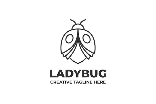 Ladybug monoline business logo