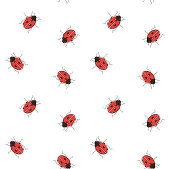 무당 벌레 원활한 패턴입니다. 무당 벌레 반복 벽지, 포장지.
