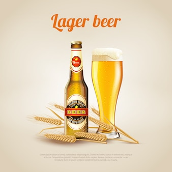 Lager beer background