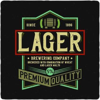 Lager label