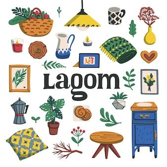 Lagom - concept of scandinavian lifestyle.