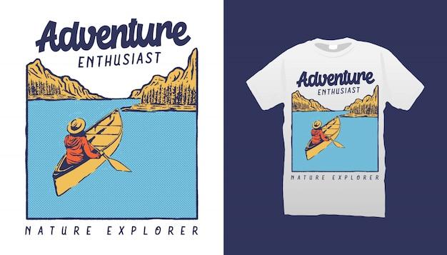 Футболка lake adventure design