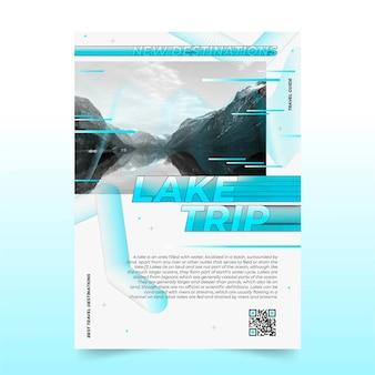Modello di informazioni sul viaggio sul lago