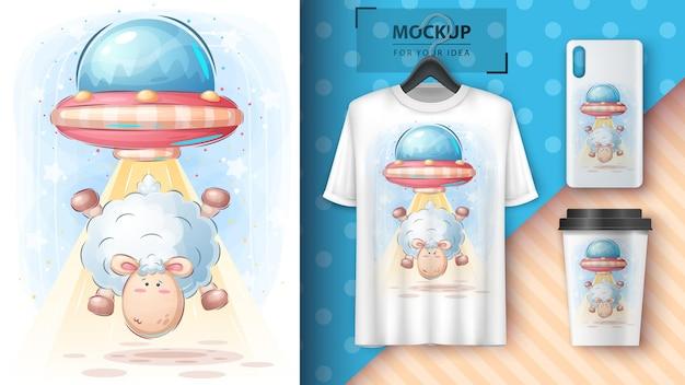 Lamb ufo poster and merchandising