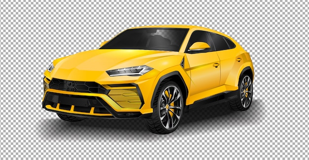 Lamborghini urus super suv driving in suburban geneva.