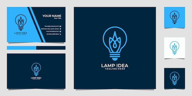 ランプアイデアのロゴと名刺