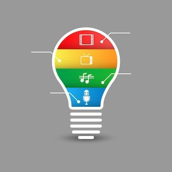 Инфографика лампы