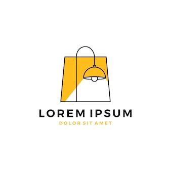 Lamp lighting shop logo