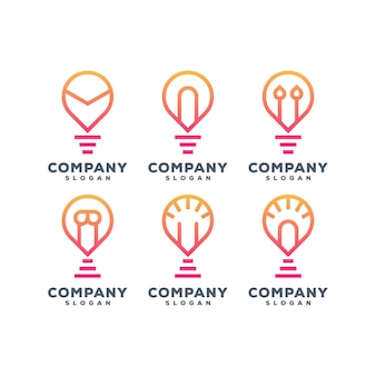 램프 세트 로고 디자인