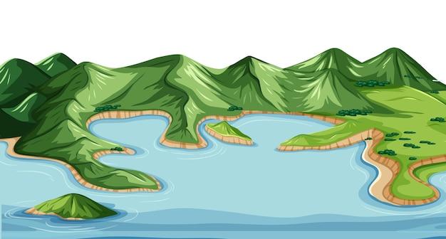 Наземная и водная география ландшафта