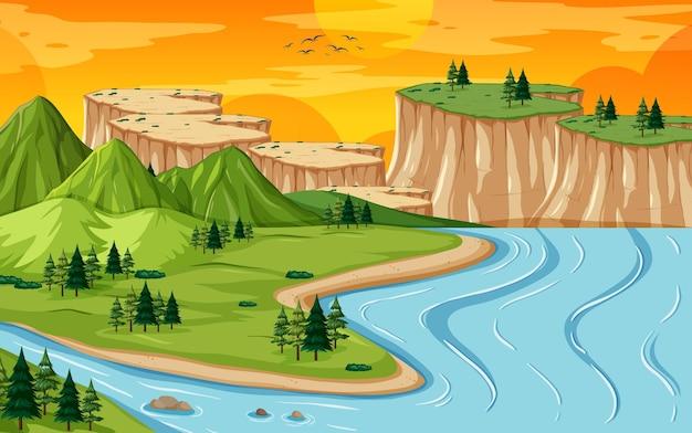 땅과 물 지리 풍경