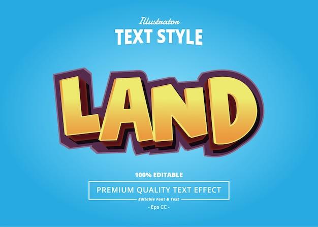 Land text effect