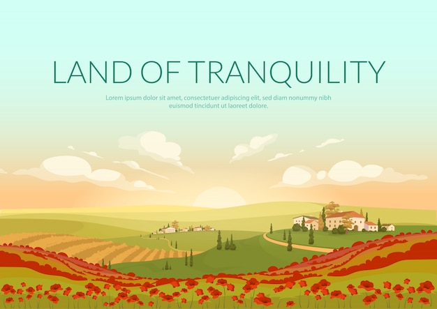 Land of tranquillity poster   template