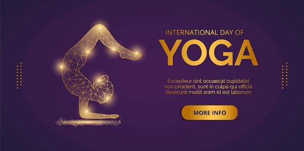 Landing page about international yoga day
