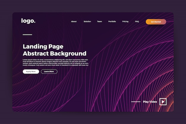 Landing page abstract background