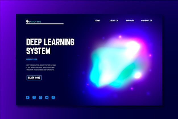Landing page abstract colorful delusion