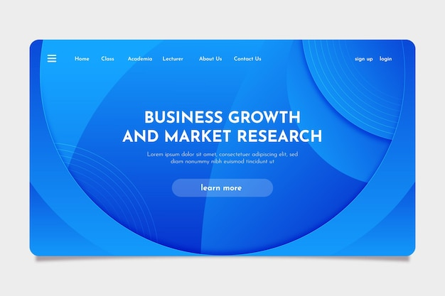 Landing page abstract design template