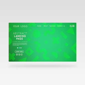 Landing page abstract green template